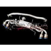 Power Craft Hybrid Exhaust Muffler System Twin Valve - R35 GTR 90 Center Pipe